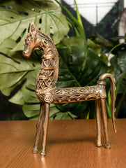 Dhokra Craft Curio (Large) - Horse