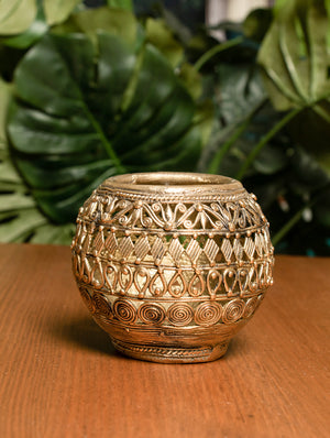 Dhokra Craft Stationery Holder - Jaali