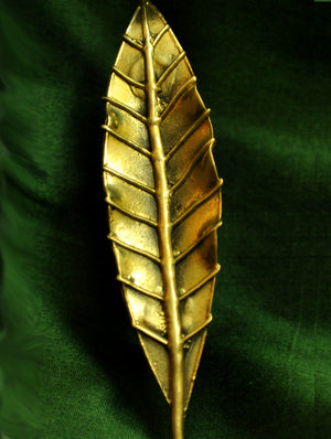 Dhokra Craft - Door Handle, Leaf Design - The India Craft House