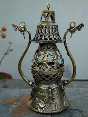 Dhokra Craft - Exquisite Lantern with Figurines