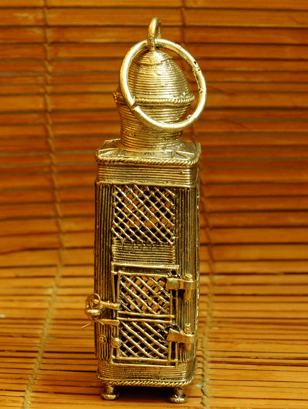 Dhokra Craft - Lantern, Square - The India Craft House