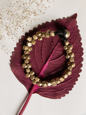 Dhokra Craft Beads & Thread Bracelet - The India Craft House