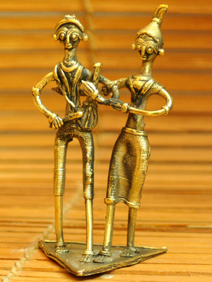 Dhokra Craft Curio - Musicians - The India Craft House
