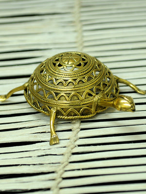 Dhokra Craft Curio - Tortoise - The India Craft House