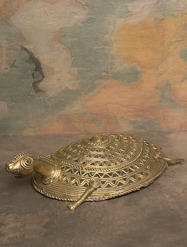 Dhokra Metal  Craft Curio - Tortoise - The India Craft House