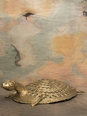Dhokra Metal  Craft Curio - Tortoise
