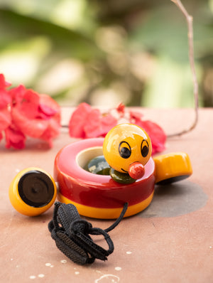 Duby Duck - Wooden Pull Toy - The India Craft House
