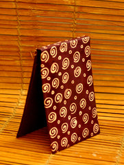 Embossed Leather - Paper Holder, Maroon Concentrics