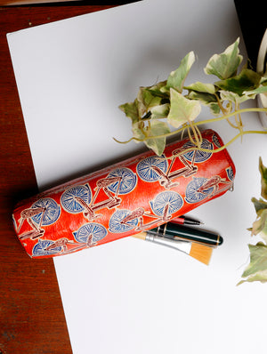 Embossed Leather - Pencil Case - The India Craft House
