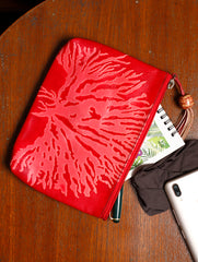 Embossed Leather - Utility Pouch
