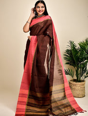 Ethnic Charm. Handloom Khadi Cotton Narayanpeth Saree