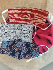 Face Masks (Set of 4) - Ikat, Kalamkari, Ajrakh, Batik