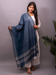 Fine Cotton with Natural Dye Woven Dupatta