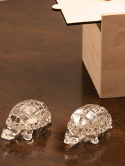 Fine Crystal Glass Curios - Tortoise (Set of 2)
