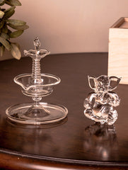 Fine Crystal Glass Ganesha + Samay (Set of 2)