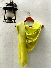 Fine, Soft Kashmiri Shaded Wool Stole, Lime Green to Pale Yellow
