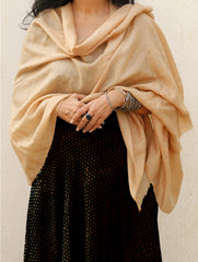 Fine, Soft Kashmiri Wool Stole - Self Design