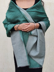 Fine, Ultra-Soft Kashmiri Reversible Wool Stole