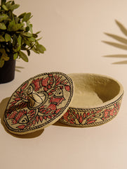 Madhubani Art Papier Mache - Multi-Utility Box