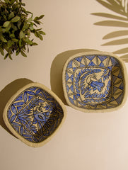 Madhubani Art Papier Mache - Multi-Utility Baskets (Set of 2)