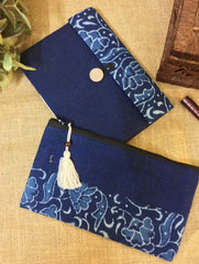 Gift Set - Block Print Cotton Utility Pouch & Flap Diary (Set of 2)