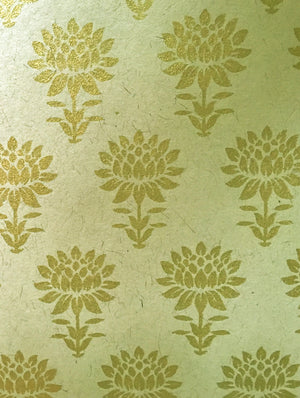 Gift Wrapping Paper - Cream & Gold - The India Craft House 1
