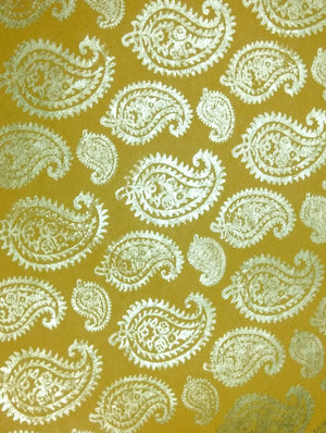 Gift Wrapping Paper - Yellow & Gold - The India Craft House 1