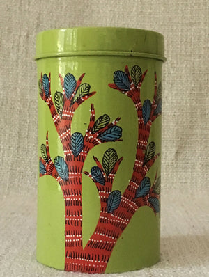 Gond Art - Cookie Box, Small - The India Craft House 1