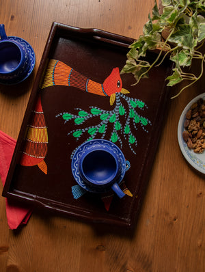 Gond Art - Painted Wooden Tray