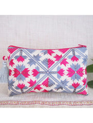 Grey and Pink Long Pouch