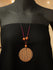 Hand-Crafted Ceramic Pendant on Thread - Round - The India Craft House