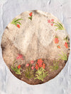 Hand Felted & Embroidered Kashmiri Namda - Shaded Woollen Round Rug