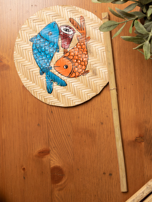 Hand Painted Fan - The India Craft House