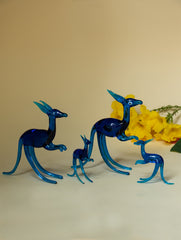 Handcrafted Blown Glass Craft Kangaroos (Set of 4)