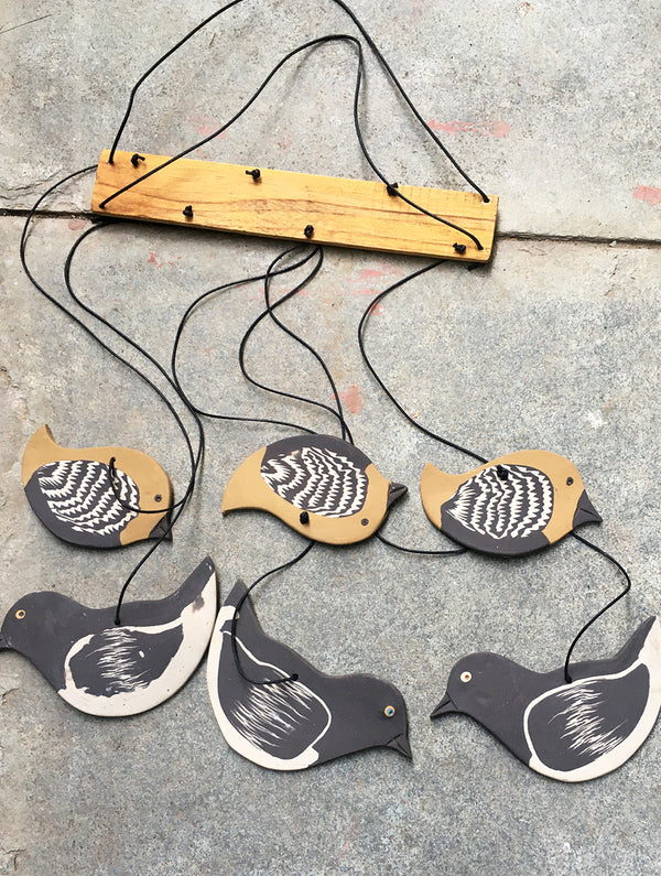 Handcrafted Ceramic Chimes (Birds)
