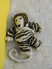 Handcrafted Cloth Yoyo Toy - Monkey