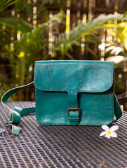Handcrafted Leather Hand Bag With Hand Stitch Detail