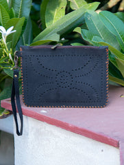 Handcrafted Leather Tote Bag with Hand Stitch Detail