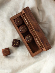 Handcrafted Wooden Dice Game With Box