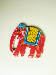 Handcrafted Wooden Jigsaw Puzzle - Elephant