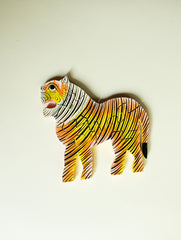 Handcrafted Wooden Jigsaw Puzzle - Tiger