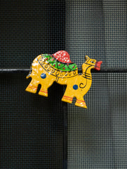 Handcrafted Wooden Magnet - Camel