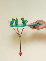 Handcrafted Wooden Moving Toy - Birds Feeding (Large)