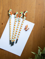 Handcrafted Wooden Pencils (Set of 4) - Parrots