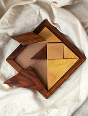 Handcrafted Wooden Tangram Puzzle