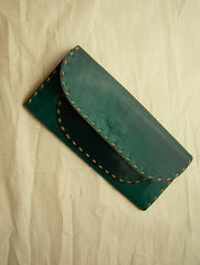 Handcrafted Leather Clutch / Wallet with Hand Stitch Detail