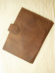 Handcrafted Leather Utility Folder with Hand Stitch Detail