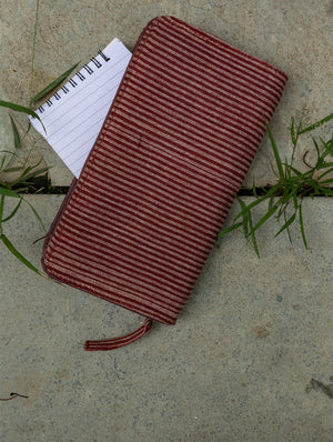Handloom Fabric  - Multi-Compartment Wallet Bag