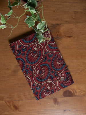 Handmade Ajrakh Cloth Covered Diary - The India Craft House