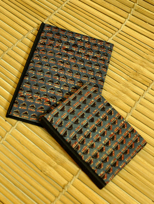 Handmade Ajrakh Cloth Covered Diary (Set of 2) - The India Craft House 1
